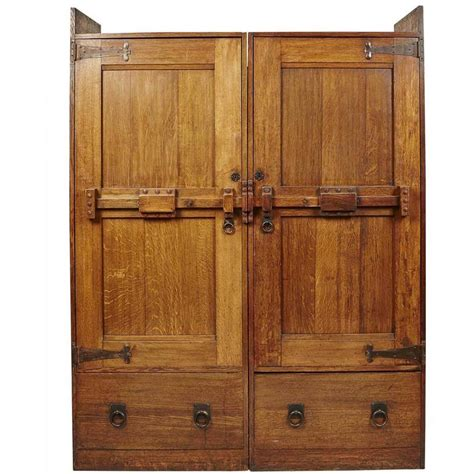 arts and crafts armoire arts and crafts oak wardrobe by wylie and lochhead for sale at 1stdibs