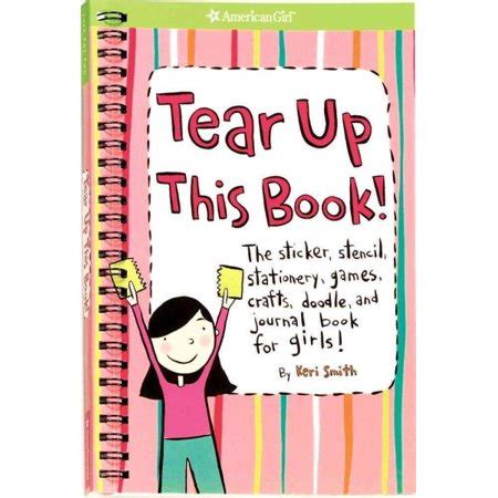 best smith book tear up this book the sticker stencil stationery