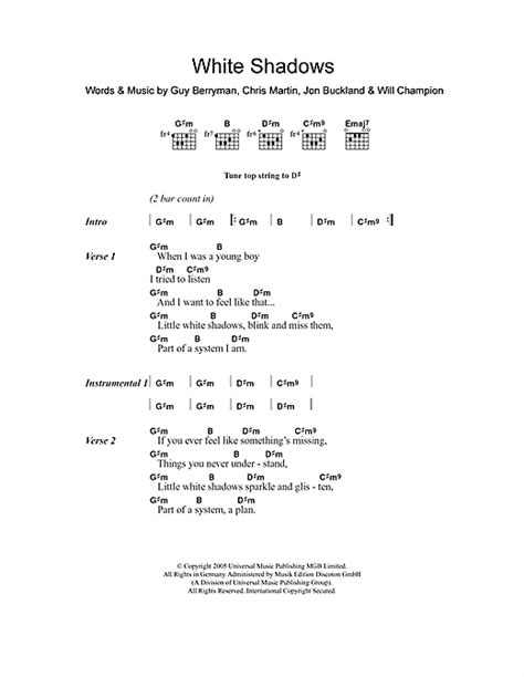 download mp3 coldplay white shadow white shadows sheet music by coldplay lyrics chords