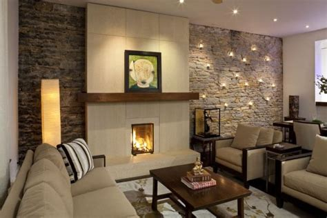 Stone Wall In Living Room | 33 stunning accent wall ideas for living room