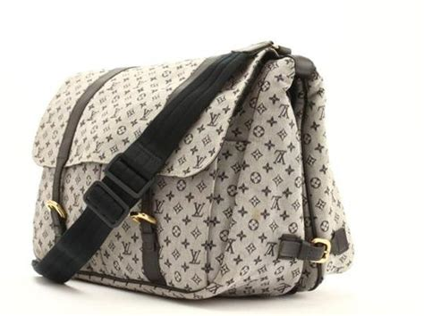 louis vuitton monogram leather mini sack gray brown diaper