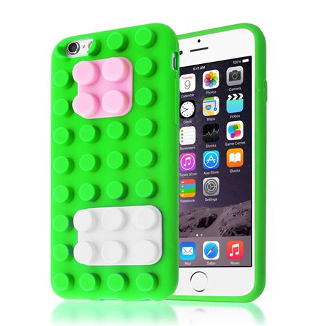 Silicone Iphone 6 With Standing Iphone 6 Plus Standinh Pink 3d building lego blocks brick soft silicone stand cover for iphone 6s 6 ebay