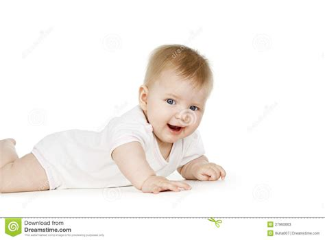 Happy Baby Crawling happy baby crawling on the floor stock photos image 27960663