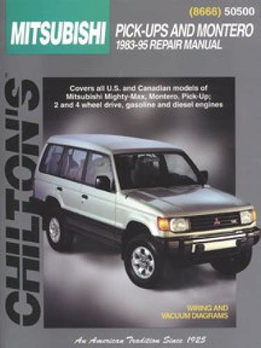 old car owners manuals 1996 mitsubishi montero regenerative braking service manual 1983 1996 mitsubishi pick ups john h haynes used books rare books and new