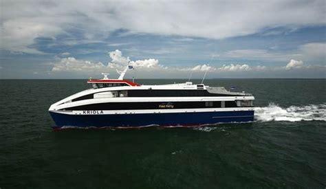 catamaran hull resistance 45 m inter island ropax ferry for the high seas