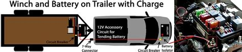 how to wire the 7 way charge wire to trailer winch battery