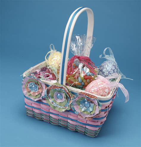 How To Make Paper Flower Basket - paper flowers easter basket from plaid favecrafts