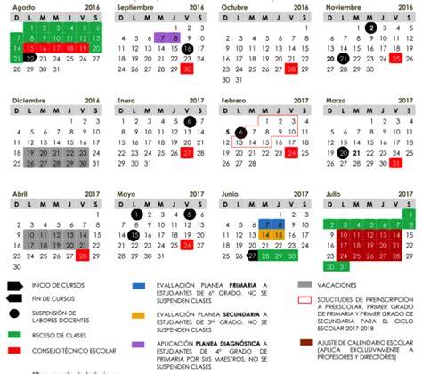 Calendario Escolar 2018 Mexico Calendario Escolar Secretar 237 A De Educaci 243 N Y Cultura