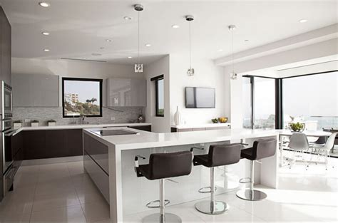 contemporary eat in kitchen island contemporary 30 custom luxury kitchen designs that cost more than 100 000