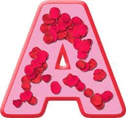presentation alphabets petals letter a