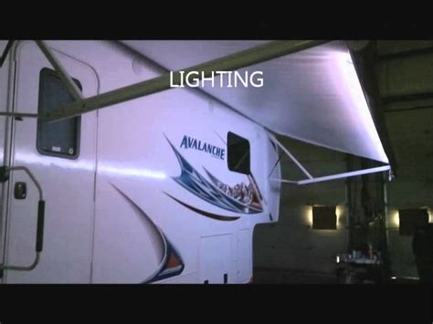 trailer awning lights vellner led awning light youtube