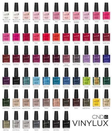 vinylux colors cnd vinylux colors nailed it