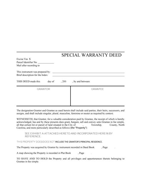 special warranty deed template 43 free warranty deed templates forms general special
