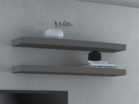 contemporary valentino wall shelf in choice of oak veneer