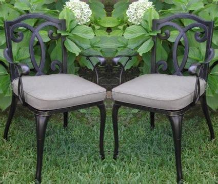 bronze patio furniture 2pc black antique bronze cast aluminum outdoor patio furniture chair set