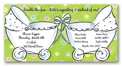 baby shower invitations for twins template best template
