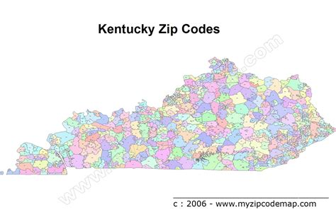 map kentucky area codes kentucky zipcode map