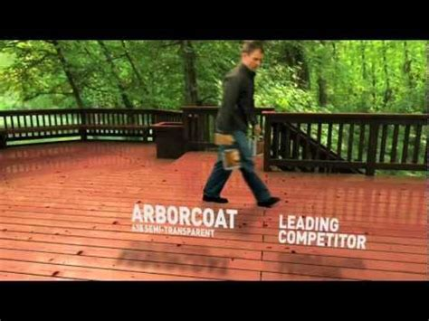 benjamin moore arborcoat  stain  deck youtube