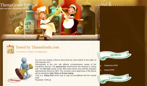 Themes In Kitchen Stories | kitchen stories wordpress theme review