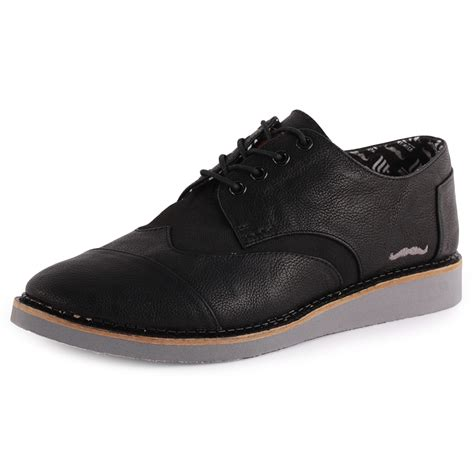 toms movember brogues mens leather black brogues new shoes