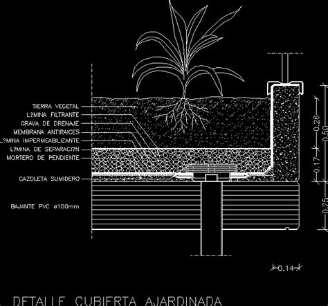 green roof section dwg roof garden dwg detail for autocad designs cad