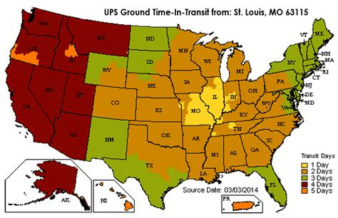 ups transit map ups ground transit time map pictures to pin on pinsdaddy