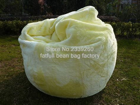Beanbag Chairs Neo Jumbo Syntetic Fure large lemon shaggy faux fur fur beanbag cover plush bean bag chair 116cm d self factory