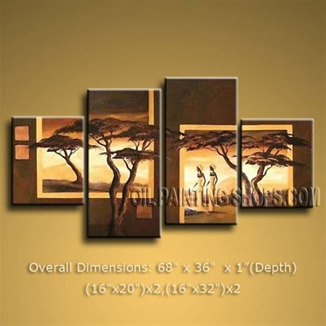 home interiors wall decor colorful large 4 panels wall for home decor contemporary africa landscape 68 quot x 36 quot 2708