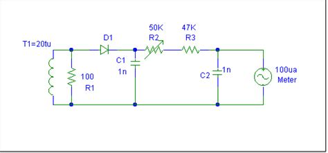 schottky diode rf detector circuit building and calibrating a low capacitance rf current meter