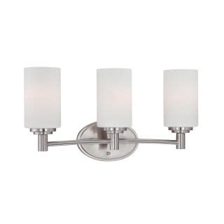 Bathroom Fixture Collections Lighting 190024217 Brushed Nickel 3 Light Bathroom Fixture From The Pittman Collection