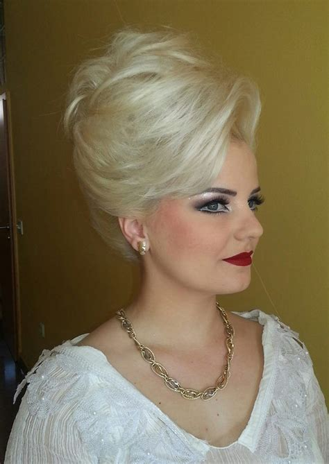 retro inspired bouffant hairstyle wedding hairstyles 187 best the old styles bouffant wetset hair images on