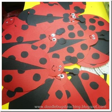 ladybug pattern for kindergarten 93 best bugs and insects preschool theme images on