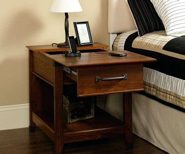 end table with charging station charging station end table
