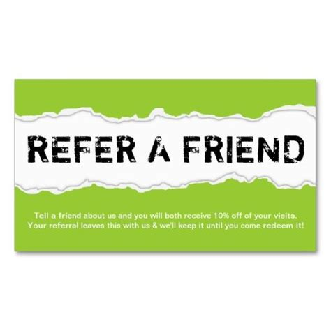 rip card template refer a friend page rip color customizable referral card