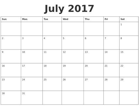 printable calendar 2017 blank january 2017 blank calendar