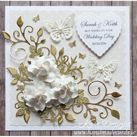 Wedding Handmade Cards - handmade wedding wishes card