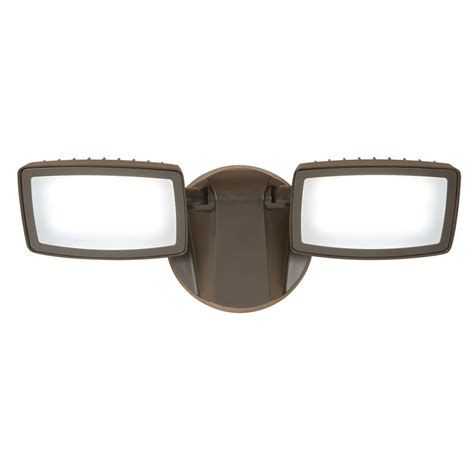 dusk to dawn flood lights home depot halo bronze outdoor integrated led dual head dusk to dawn