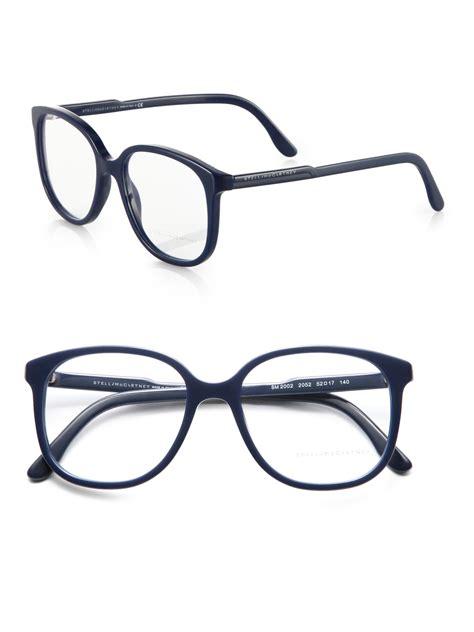 stella mccartney optical glasses in blue lyst