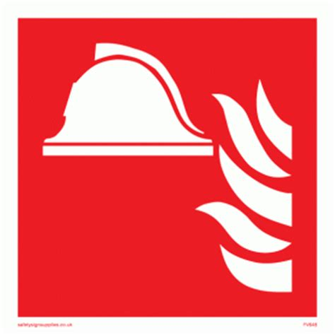 Height Wall Sticker fire point symbol from safety sign supplies