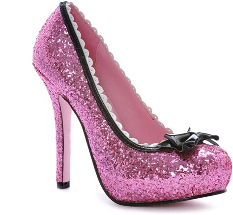 pink sparkle heels shoes picture