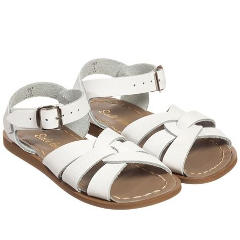 sun san salt water sandals sun san sandals white leather salt water buckle