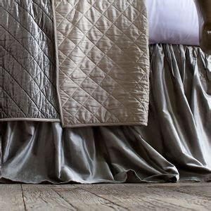 silver bed skirt lili alessandra chloe diamond quilted silver velvet coverlet collection