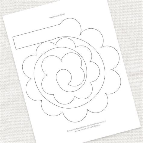 9 best images of rose printable template rose paper
