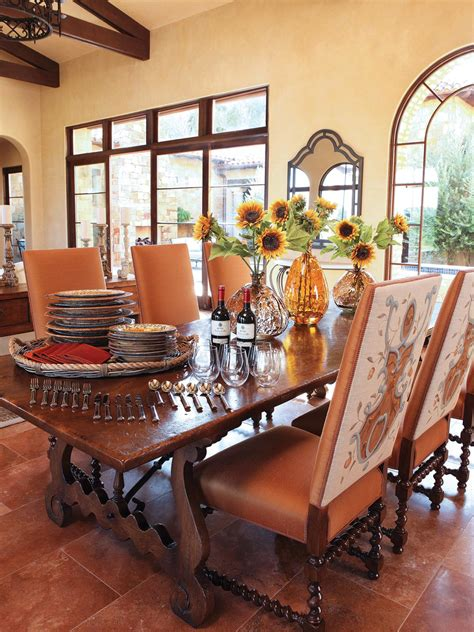Dining Room Table Tuscan Decor Photos Hgtv