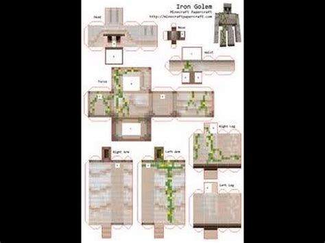 Minecraft Papercraft Collection - photo collection minecraft papercraft iron golem