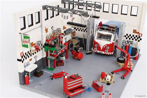 tutorial lego single car garage lego ideas product ideas garage life oldtimer