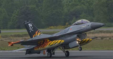 Pilot Jet Tiger No 38 belgian af unveils a new f 16 tiger before flight air forces news