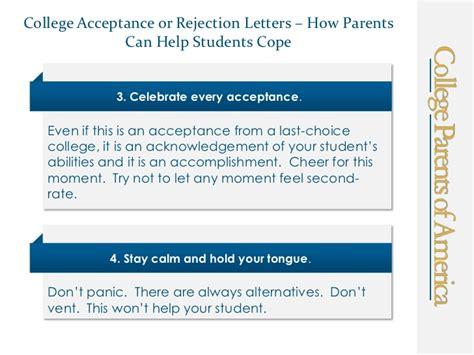 College Acceptance Letter Reaction college acceptance or rejection letter ten ways parents can help stu