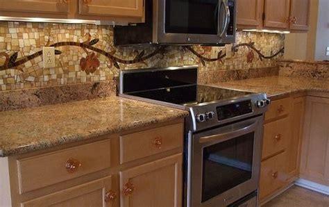 kitchens with mosaic tiles as backsplash vine mosaic tile backsplash kitchen backsplash stove and mosaics