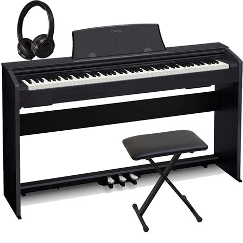 casio keyboard bench casio px 770bk home digital piano 88 key weighted with